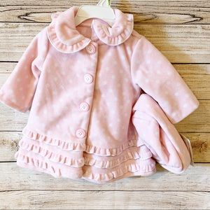 Bonnie Baby Coat/ Jacket with Matching Hat 3-6 m